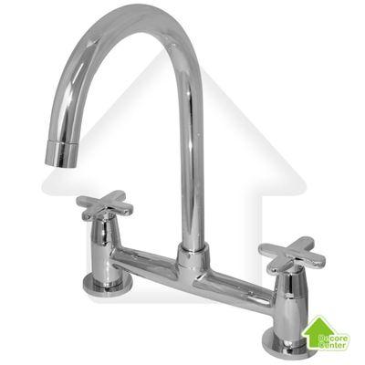 Misturador-de-Parede-Cromado-para-Cozinha-Bica-Movel-Somma-Metal---ABS---VIQUA