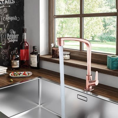 Torneira-para-Cozinha-de-Mesa-Bica-Movel-Lorenzetti-Flatt-1167-F71-Rose-Gold